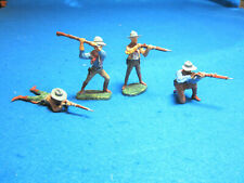 FOUR (4) ELASTOLIN FIGURES, COWBOYS WITH RIFLES