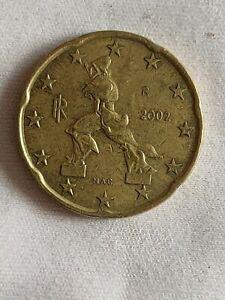 Pièce 20 Euros Cent Italie 2002