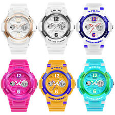 Girls Lady Teen Silicone 12/24 Date Rubber Waterproof Digital Sport Alarm Watch