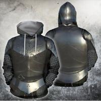 3D Print Knights Armor Templar Hoodies MenWomen Casual Pullover Sweatshirts Tops