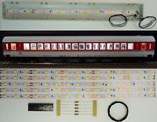 5 Stück 250mm LED Waggon Innenbeleuchtung Kaltweiß Bausatz Analog/Digital C3218