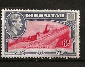 GIBRALTAR (A9-41-1) KEY VALUE SG126  PERF 13.5   6d CARM-GREY/BLK  FINE  MM /MH