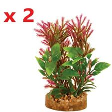 2 x Aquarium Plant with Sandstone 4.5cm x 9.5cm Tropical Fish Tank Decor