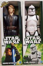 "Star Wars Hasbro Figure 12"" Lot of 2 Anakin Skywalker and Clone Trooper Figure"