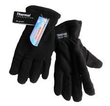 Hogan's Wholesale Men's Soft Insulation Fleece Thermal Insulation Winter Gloves