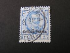 *ERITREA, SCOTT # 30, 1.25 Lira VALUE 1928 ITALY STAMPS OVPT KING HUMBERT I USED