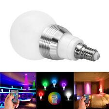 AC 85-265V 5W E14 Schraube RGB LED Licht Bunte Lampe Party Birne+IR Regler B485