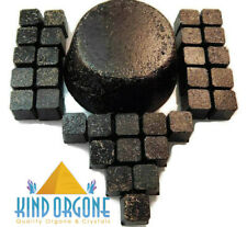 Black Sun Orgone Tower Buster + 30 Cubes Shungite Quartz Healing Crystals USA