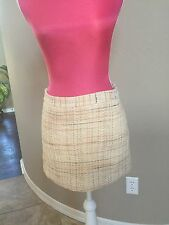 Theory Short Skirt Size 0 Lined Yellow Beige Orange