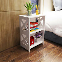 Bedside Table Drawer Cabinet Small Side End Table Nightstand Storage Organizer