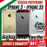 SCOCCA POSTERIORE ORIGINALE PER APPLE IPHONE IPHONE 5 5G 5S BACK COVER_HOUSING!!