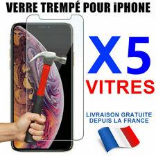 VERRE TREMPÉ VITRE PROTECTION FILM ÉCRAN iPhone XR X XS MAX 11 8 7 SE 12 Mini