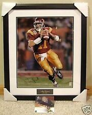 USC TROJANS MATT LEINART AUTOGRAPHED SIGNED FRAMED 16x20 PHOTO GTSM HOLOGRAM COA