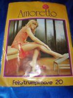 RAR 70er J. Vintage Amoretto Feinstrumpfhose Gr. 38-40 saskia Collant Tights OVP