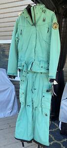 Spyder Women's Snowboarding Suit Medium NEW W/Tags MSRP $600 Teal