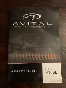 Avital Remote Start Keyless Entry System Owners Guide - Model 4105L