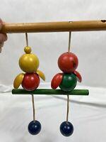 Vintage 1950's Childhood Interests Wooden Cradle Gym, Baby Crib ~ Bed Toy