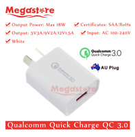 white Qualcomm Quick Charge QC 3.0 18W AU Universal Super Fast USB Wall Charger