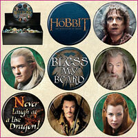 The Hobbit Desolation of Smaug Metal Photo Button Assortment of 144 Series 2 NEW