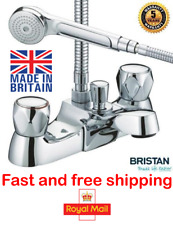 Bristan Value Club Luxury Bath Shower Mixer Tap with Shower Head Hose VAC LBSM C