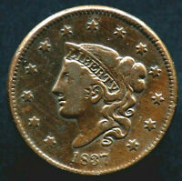 1 CENT 1837 ETATS UNIS / USA - United States of America - coronet head