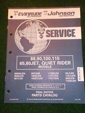 1992 Johnson Evinrude Parts Catalog Manual 88 90 100 115 65 80 JET Quiet Rider