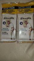 (2) 2020 Topps Allen & Ginter Sealed Value Pack MLB Baseball 3 Gold Parallel