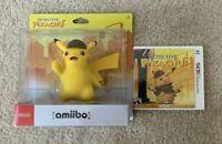 Brand New/Sealed Nintendo Detective Pikachu Amiibo and 3DS Game Bundle