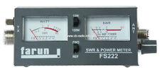 CB RADIO ANTENNA SWR WATT POWER METER FARUN FS 222