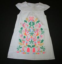 New Gymboree 5T Girls Island Cruise Embroidered Tropical Toucans Birds Dress