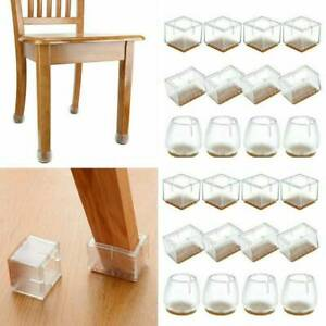 4x Silicone Furniture Leg Cover Table Feet Pad Floor Set