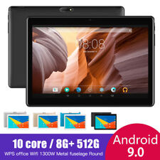 10.1 inch tablet Android 9.0 OS 8GB RAM 512GB ROM WIFI Tablets Dual SIM card