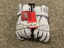 Warrior Evo Lacrosse Gloves White Size Large (L) - NEW UNUSED