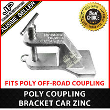 POLY OFF-ROAD COUPLING BRACKET CAR ZINC TRAILER HITCH CARAVAN SUITS TREG/TRIGG