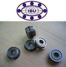 4 Stk. IBU Miniatur Kugellager mit Flansch / Bundlager  MF126 ZZ  6x12x4mm