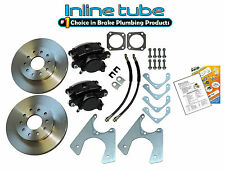 67-81 Staggered Rear End Axle Disc Brake Conversion Kit 10/12 Bolt Stand Rotor