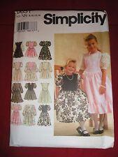 SIMPLICITY PATTERN 0651 GIRLS DRESSES SIZE NN (8-14) UNCUT