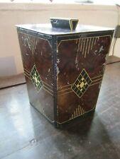 Antique William Crawford & Sons Art Deco Era Tea Caddy Style Biscuit Tin Rare