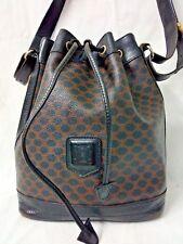* CELINE Vintage Crossbody Bag Shoulder Bag Makadam MC96 Ladies Made in Italy