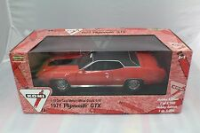 1971 Plymouth GTX Koni Orange/Blk Roof new old stock 1-18 ERTL #37104