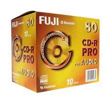 Fuji CD-R Pro Digital Audio 700MB Disc 80min Recordable Discs Jewel Case Pack 10