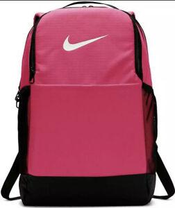 Nike Brasilia Training Unisex Backpack Pink Rush Black Size Medium 24 Liters NWT