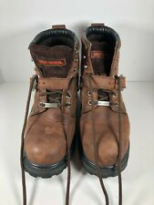 Harley Davidson Boots Brown 8.5 Lace Up Leather Motorcycle 81025  5 Eye Buck