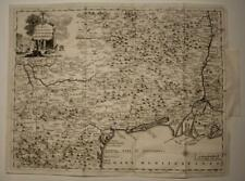 LANGUEDOC FRANCE1758 ISAAK TIRION ANTIQUE ORIGINAL COPPER ENGRAVED MAP