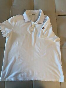 moncler mens white size XL polo shirt good condition