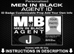 Men In Black Agent Custom Personalized Fancy Dress Cosplay Comic Con Halloween
