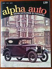 Encyclopédie Alpha Auto n°139; Rolls Royce/ Louis Rosier/ Rorule/ Motobécane