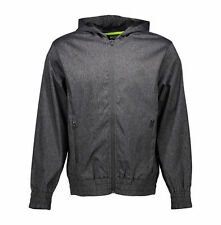 Beast Mode Windbreaker Jacket Men's Flex Woven Full-Zip XL Charcoal