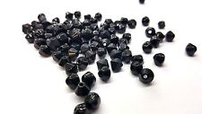 100 pieces 6mm Value Style Crystal Glass Bicone Beads - Black - A2603