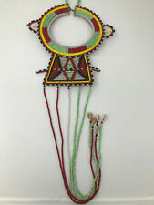 Stitched Wedding Wire Clasp Perfect Masai Africa Skin Necklace Hand Beaded